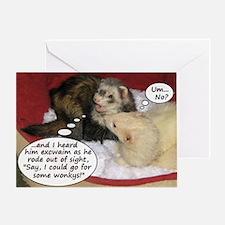 Night Before (Ferret) Christmas Greeting Card