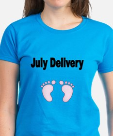 Jully Delivery With Pink Footprints T-Shirt
