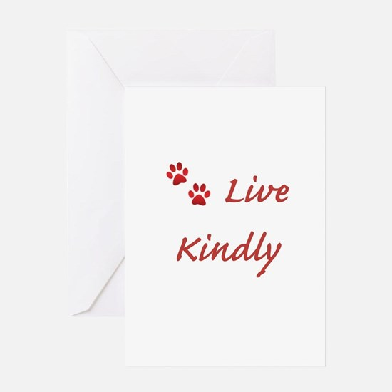 Live Kindly Greeting Cards