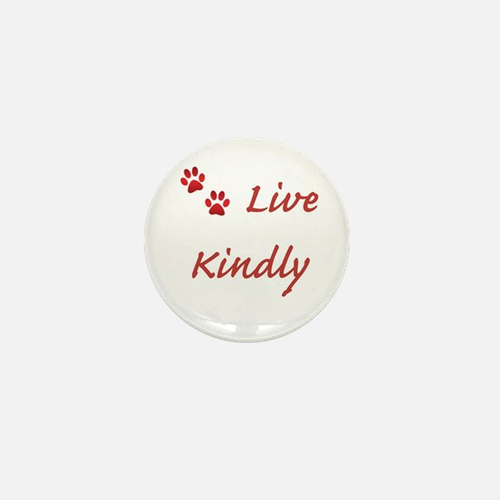 Live Kindly Mini Button (10 pack)