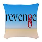 Double Infinity Revenge on Beach Woven Throw Pillo