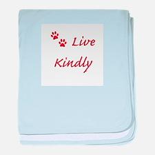 Live Kindly baby blanket