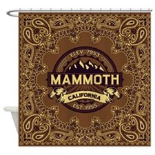 Mammoth Sepia Shower Curtain