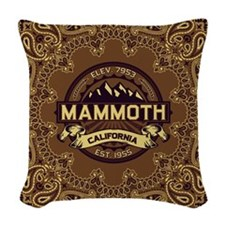 Mammoth Sepia Woven Throw Pillow