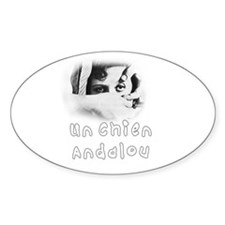 Un CHien Andalou Oval Decal