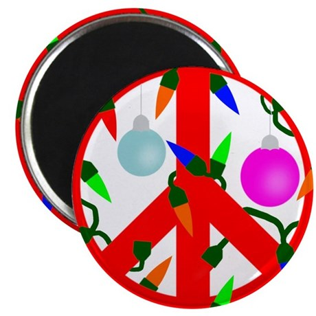 peacechristmasred Magnets