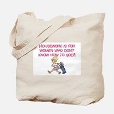 Cute Play golf Tote Bag