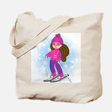 Ski Girl (brunette) Tote Bag