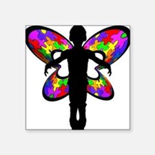 Autistic Butterfly Rectangle Sticker