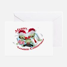 Merry Zombie Family Christmas Greeting Card