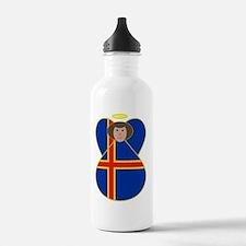 Aaland Islands Flag An Water Bottle