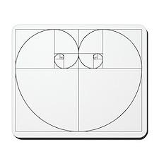 Golden Ratio Heart Mousepad