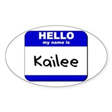 hello my name is kailee Oval Decal