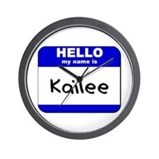 hello my name is kailee  Wall Clock