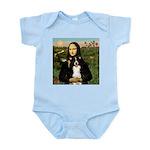 Mona & Border Collie Infant Bodysuit