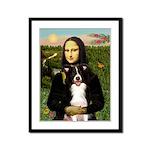 Mona & Border Collie Framed Panel Print