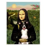 Mona & Border Collie Small Poster