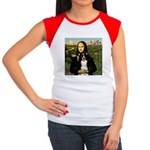 Mona & Border Collie Women's Cap Sleeve T-Shirt