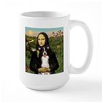 Mona & Border Collie Large Mug