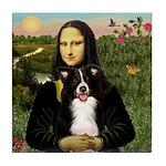 Mona & Border Collie Tile Coaster