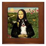 Mona & Border Collie Framed Tile