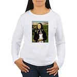 Mona & Border Collie Women's Long Sleeve T-Shirt