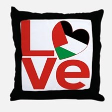 Red Palestinian LOVE Throw Pillow