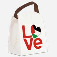 Red Palestinian LOVE Canvas Lunch Bag