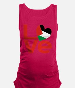 Red Palestinian LOVE Maternity Tank Top