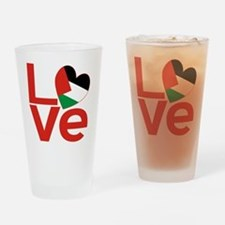 Red Palestinian LOVE Drinking Glass