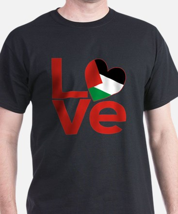 Red Palestinian LOVE T-Shirt
