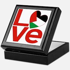 Red Palestinian LOVE Keepsake Box