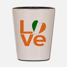 Orange Irish Love Shot Glass