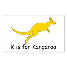 K is for Kangaroo Decal