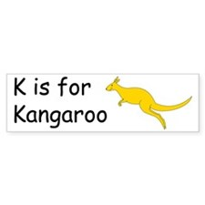 K is for Kangaroo Bumper Sticker