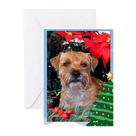 Border Terrier Holiday Greeting Cards