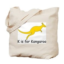 K is for Kangaroo Tote Bag