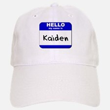 hello my name is kaiden Baseball Baseball Cap