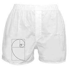 Golden Spiral Fibonacci Black Boxer Shorts