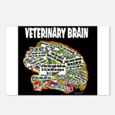 vet brain Postcards (Package of 8)