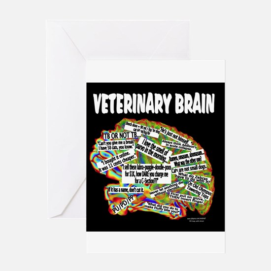 vet brain Greeting Cards