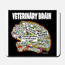 vet brain Mousepad