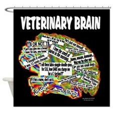vet brain Shower Curtain