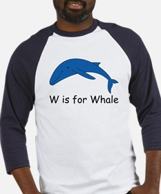 W is for Whale Baseball Jersey