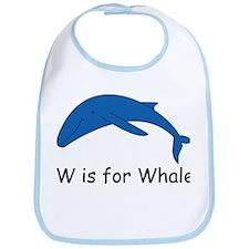 W is for Whale Bib