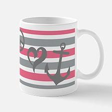 Peace, Love, Anchor Monogram Mug