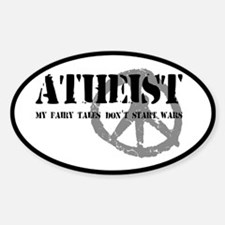Atheism Doesn't Start Wars Decal