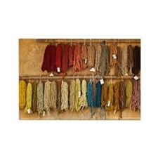 Coloured wool Rectangle Magnet