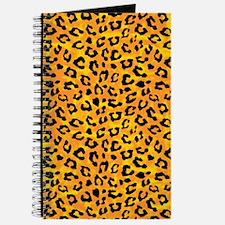 Leopard Print Spot Pattern Orange Yellow Journal