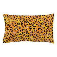 Leopard Print Spot Pattern Orange Yellow Pillow Ca